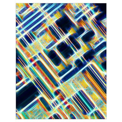 Microchip, artwork Poster