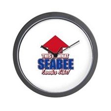 This is what Seabee looks like Wall Clock