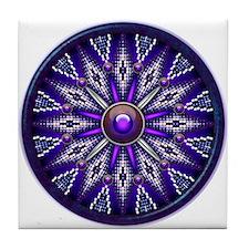Native American Rosette 10 Tile Coaster