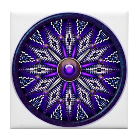 Native American Rosette 10 Tile Coaster