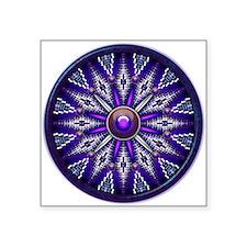 """Native American Rosette 10 Square Sticker 3"""" x 3"""""""