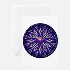 Native American Rosette 10 Greeting Card