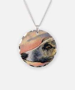 Brindle whippet greyhound dog Necklace