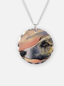 Brindle whippet greyhound dog Necklace Circle Char