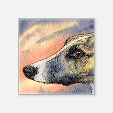 "Brindle whippet greyhound dog Square Sticker 3"" x"