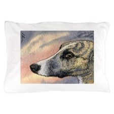Brindle whippet greyhound dog Pillow Case
