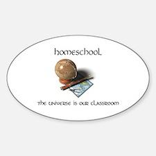 Homeschool Universe Oval Decal