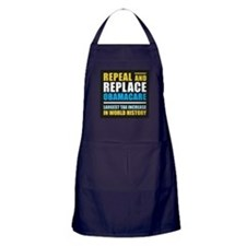 Repeal And Replace Obamacare Apron (dark)