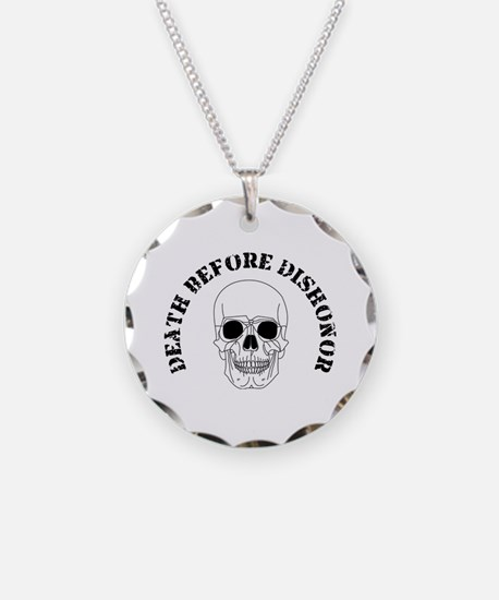 Skull - Death Before Dishonor 007.png Necklace Cir
