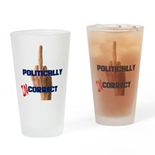 Politically Incorrect Finger Drinking Glass