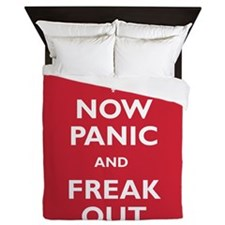 Now Panic And Freak Out Queen Duvet