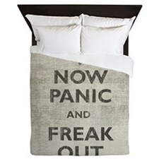 Vintage Now Panic And Freak Out Queen Duvet