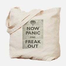 Vintage Now Panic And Freak Out Tote Bag