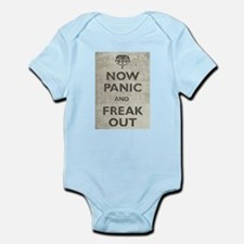Vintage Now Panic And Freak Out Infant Bodysuit
