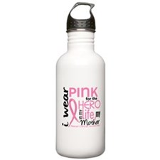 Hero In Life 2 Breast Cancer Water Bottle