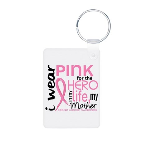 Hero In Life 2 Breast Cancer Aluminum Photo Keycha