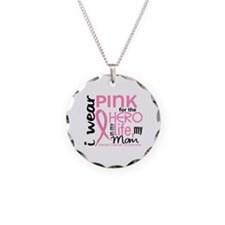 Hero In Life 2 Breast Cancer Necklace Circle Charm
