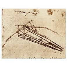Leonardo's Ornithopter Poster