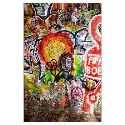 Lennon Wall, Prague Poster