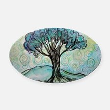 tree ! tree of life, art! Oval Car Magnet