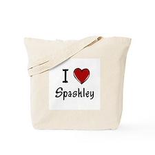 I Love Spashley Tote Bag
