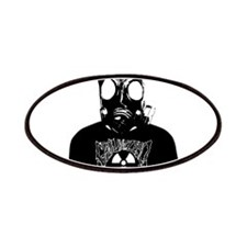 GZW Metal Logo Gas Mask Patches