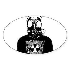 GZW Metal Logo Gas Mask Decal