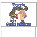 Grill Master Travis Yard Sign