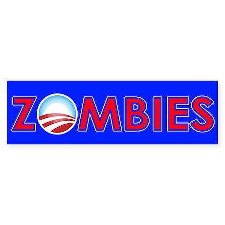 Obama Zombies Sticker (Bumper 10 pk)