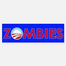Obama Zombies Sticker (Bumper)
