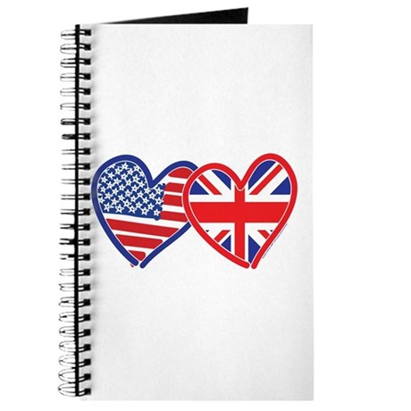 American Flag/Union Jack Hear Journal