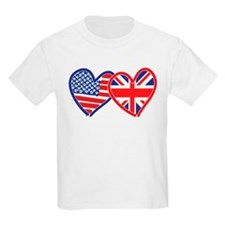 American Flag/Union Jack Hear T-Shirt
