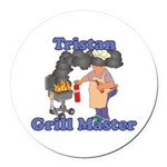 Grill Master Tristan Round Car Magnet