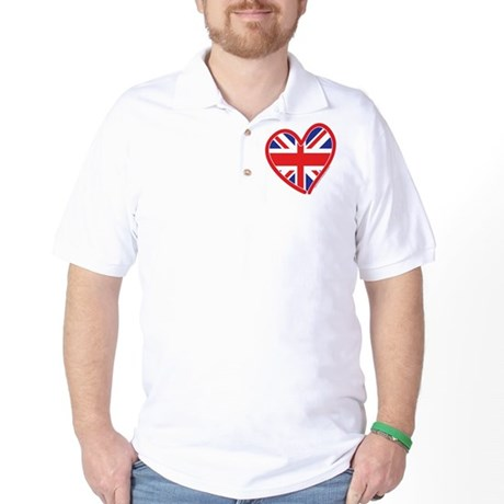 United Kingdom Union Jack Hea Golf Shirt