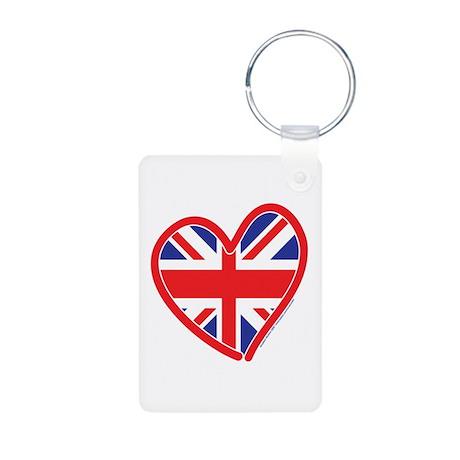 United Kingdom Union Jack Hea Aluminum Photo Keych