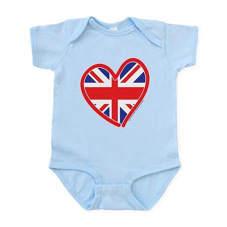 United Kingdom Union Jack Hea Infant Bodysuit