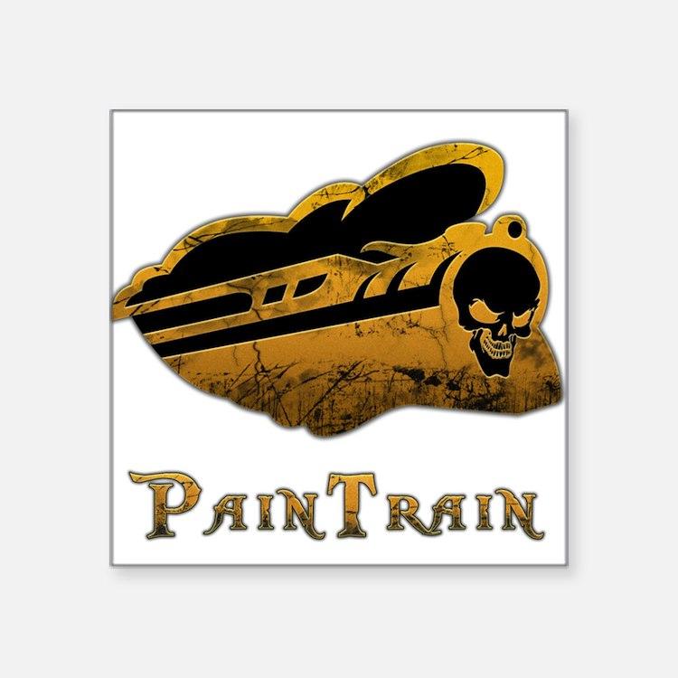 "PainTrain Square Sticker 3"" x 3"""