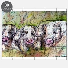 Piglets, Animal art! Puzzle