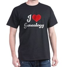 I Love Heart Genealogy T-Shirt