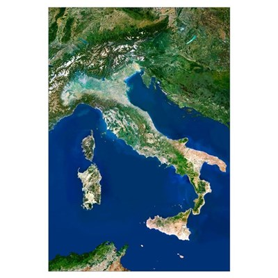 Italy, satellite image Canvas Art
