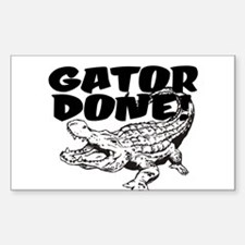 Gator Done! Decal