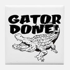 Gator Done! Tile Coaster