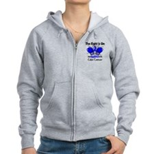 Fight is On Colon Cancer Zip Hoodie