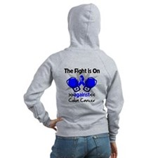 Fight is On Colon Cancer Zip Hoody