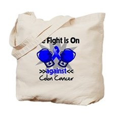 Fight is On Colon Cancer Tote Bag