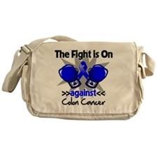 Fight is On Colon Cancer Messenger Bag