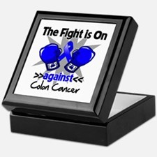 Fight is On Colon Cancer Keepsake Box