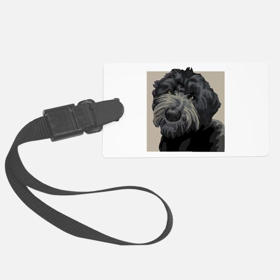 Black Russian Terrier Luggage Tag
