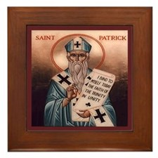 St. Patrick Framed Tile