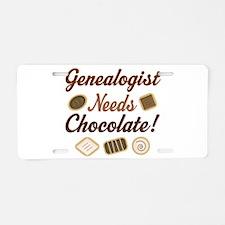 Genealogist Chocolate Gift Aluminum License Plate